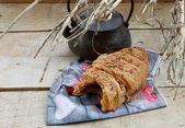 Bitten croissant — Stockfoto