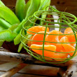 Stock Photo: Little basket with fruit