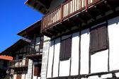 Lesaka houses-Navarre — Stock Photo