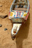 Typical boat-Senegal — Stock Photo