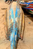 Typical canoe-Senegal — Stock Photo
