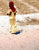 Girl with red scarf-Diogue-Senegal — Stock Photo