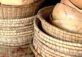 Stacked baskets-Ziguinchor-Senegal — Foto Stock