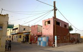 Red corner-Saint Louis du Senegal — Stock Photo