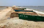 Canoes-Dakar — Stock Photo