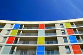 Colorist facade-Morlans — Zdjęcie stockowe