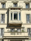 Zubieta street facade-San Sebastian — Stock Photo