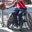 Men's Wheelchair Basketball Action - Stok fotoğraf