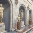 Romans statues in the Vatican Museums in Rome — Stock Photo