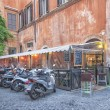 Motorcycle parking in Rome — Stock Photo