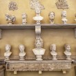 Постер, плакат: Different Portrait busts in the Vatican Museums in Rome