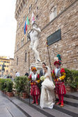 Japanese wedding in the Palazzo Vecchio in Florence, Italy — Stock Photo