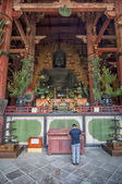 Buddha in Todai-ji Temple in Nara, Japan — Stock Photo