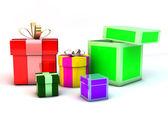 Boîtes à cadeaux 3d — Photo