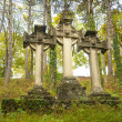Stone Celtic crosses - Stock Photo