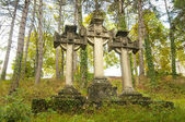 Stone Celtic crosses — Stock Photo