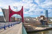 Guggenheim Museum in Bilbao,Spain — Stock Photo