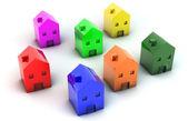 3D houses — Стоковое фото
