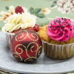 Christmas cupcake — Stock Photo #15724421