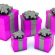 3d Gift Boxes — Stock Photo
