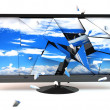 3D TV Monitor broken — Lizenzfreies Foto