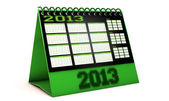 Calendar 2013 in 3d — Stock Photo