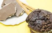 Muffin of chocolate — Stock Photo