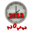 2013 in a clock in 3d — Stock Photo