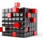 kub montering från block — Stockfoto