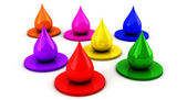 Color Drops in 3d — Stock Photo