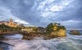黄昏在法国比亚里茨 — 图库照片