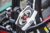 自动踏板一辆自行车 — 图库照片