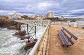Rocher de la vierge in biarritz — Stockfoto