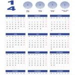 Calendar 2014 — Stock Vector #23415310