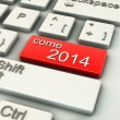 3d come 2014 Computer keys — Stock Photo