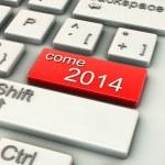 3D venire 2014 tasti di computer — Foto Stock
