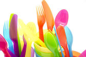 Colored cutlery — Stock Photo