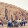 Abu Simbel in Egypt. Tone photographic film — Stock Photo