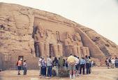Abu Simbel in Egypt. Tone photographic film — Stock Photo