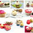 Stock Photo: Cupcakes collages