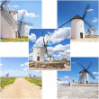 Traditional wind mills — Stock Photo