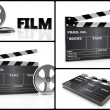 Stock Photo: Cinem3d collage