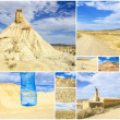 Stock Photo: Desert of Bardenas Reales in Navarre collage