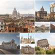 Rome collage — Stock Photo #25587049