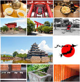 Japan collage — Stock Photo
