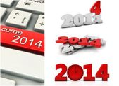 3d year 2014 collage — Stock Photo