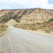 Desert of the Bardenas Reales in Navarre — Stock Photo