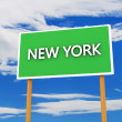 New York sign — Stock Photo