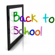 Stock Photo: 3d back to school tablet