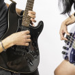 Man and woman playing guitar  — Stock Photo